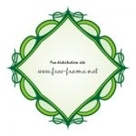 緑色の西洋的な四角フレーム・枠