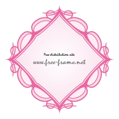 ピンク色の西洋的な四角フレーム・枠