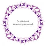 紫色の三角形が並ぶ四角フレーム・枠