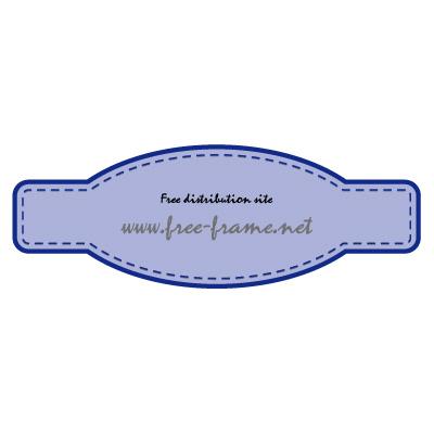 青色の細長いラベルフレーム・枠