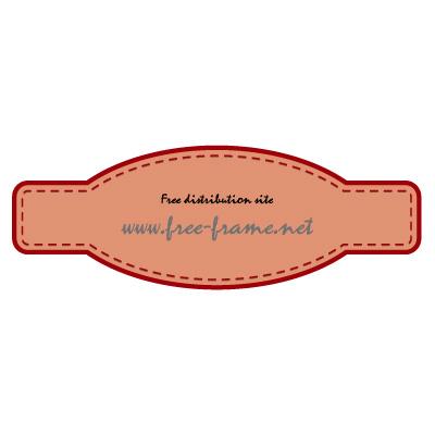 赤色の細長いラベルフレーム・枠
