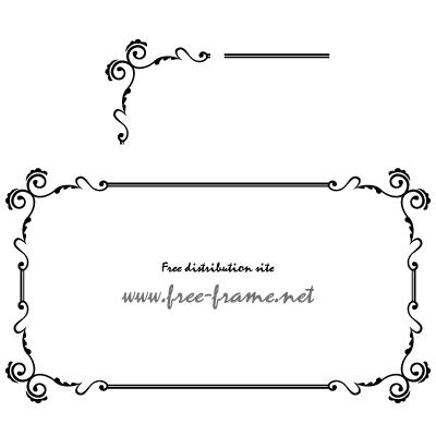 クラシカルなフレーム・枠用のイラレパターンブラシ