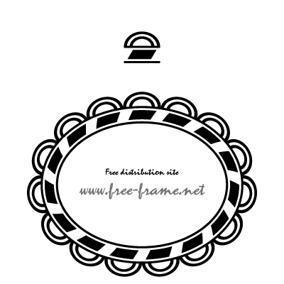円・楕円形のフレーム・枠用のイラレパターンブラシ