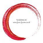 赤いブラシの円形フレーム