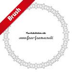 ジグソーパズルのイラストの円形フレーム・枠用のイラレパターンブラシ