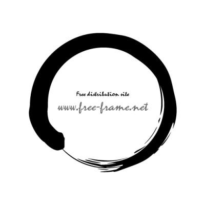 筆で書いたような円フレーム | ...