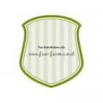 緑色のシールド風ラベルフレーム