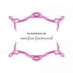 ピンク色のシャープなラインフレーム素材