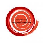 赤色の筆デザインフレーム