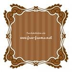 茶色の正方形フレーム素材