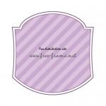 紫色のラベルフレーム