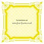 黄色のクラシカルな四角枠フレーム