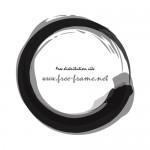 筆の円形枠フレーム素材