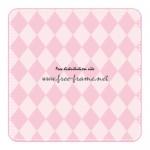 ピンク色の角丸四角形フレーム・枠素材