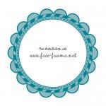 青色の花のような円形枠フレーム