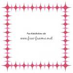 ピンク色のキラキラ・トゲトゲの四角枠フレーム