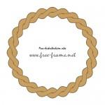 縄のように絡み合った茶色の円形フレーム・枠