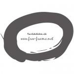 毛筆の楕円オーバルフレーム・枠
