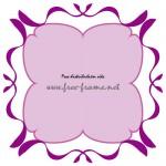 紫色のナチュラルな四角フレーム・枠