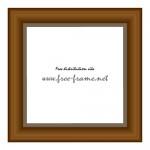 茶色い木製の額縁イラスト、スクウェアフレーム