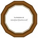12角形の木製額縁イラスト、フレーム・枠