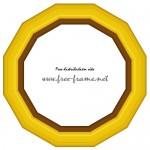 12角形の金色の額縁イラスト、フレーム・枠