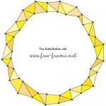 黄色のジオメトリック円形フレーム・枠
