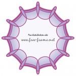 パッと広がったような紫色の円形フレーム・枠