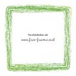 緑色のかすれた筆のスクェアフレーム・枠