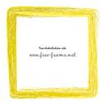 黄色のかすれた筆のスクェアフレーム・枠