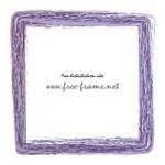 紫色のかすれた筆のスクェアフレーム・枠
