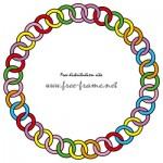 カラフルなチェーンの円形フレーム・枠