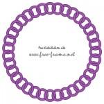 紫色チェーンの円形フレーム・枠