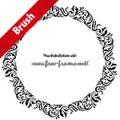 クラシカルな円形フレーム・枠用のイラレパターンブラシ